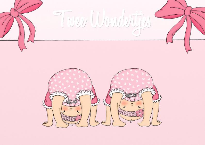 Felicitatiekaarten - Geboorte Twee Wondertjes M - TbJ
