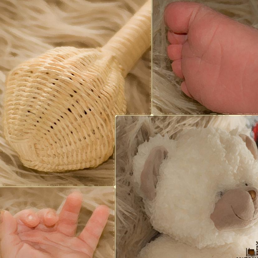 Felicitatiekaarten - geboorte vierluik