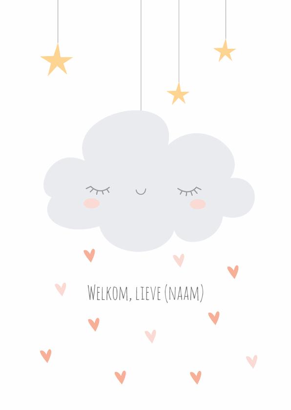 Felicitatiekaarten - Geboorte | Wolkje & hartjes - KO