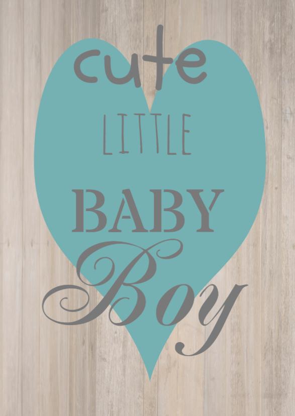 Felicitatiekaarten - geboortekaart babyboy
