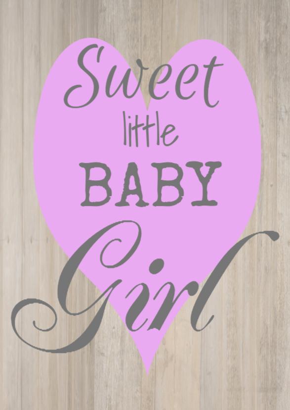 Felicitatiekaarten - geboortekaart babygirl