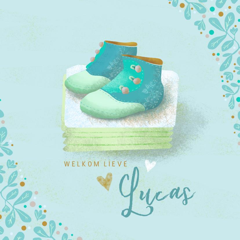 Felicitatiekaarten - Geboortekaartje met babyschoentjes