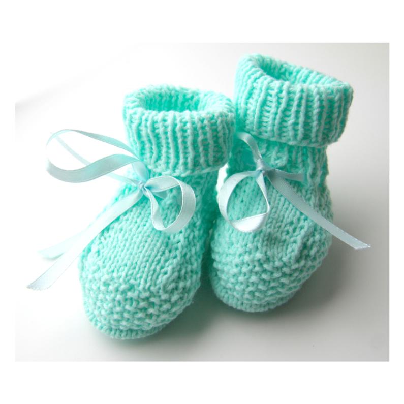 Felicitatiekaarten - Gebreide schoentjes felicitatie geboorte