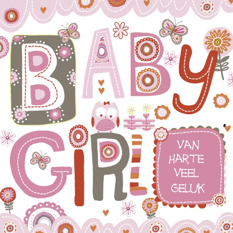 Felicitatiekaarten - Gefeliciteerd Baby Girl