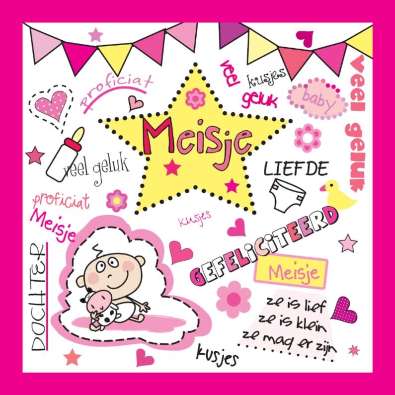 Felicitatiekaarten - Gefeliciteerd geboorte meisje
