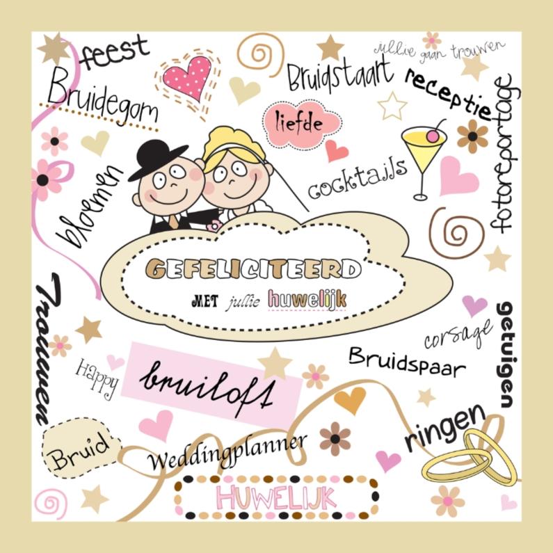 Felicitatiekaarten - Gefeliciteerd huwelijk