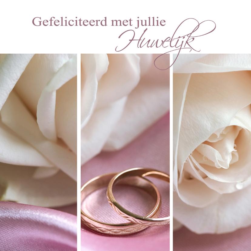 Felicitatiekaarten - Gefeliciteerd met jullie huwelijk