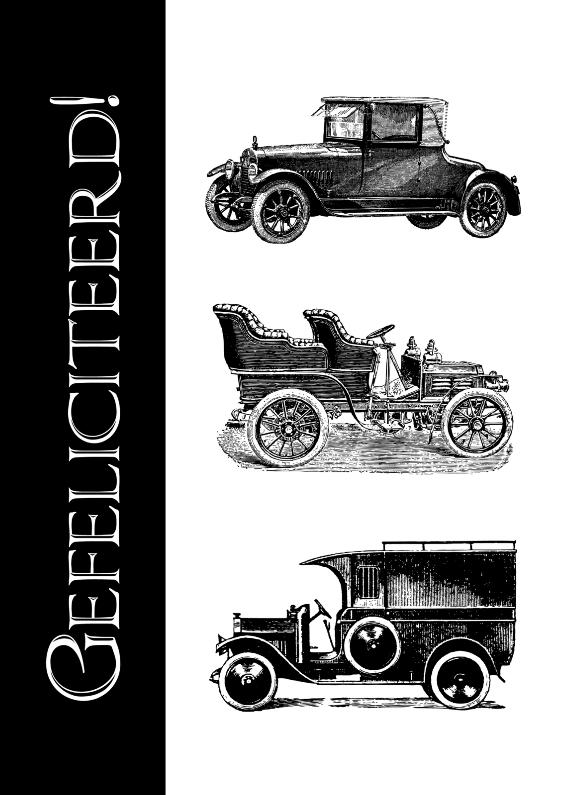 Felicitatiekaarten - Gefeliciteerd met oude auto's