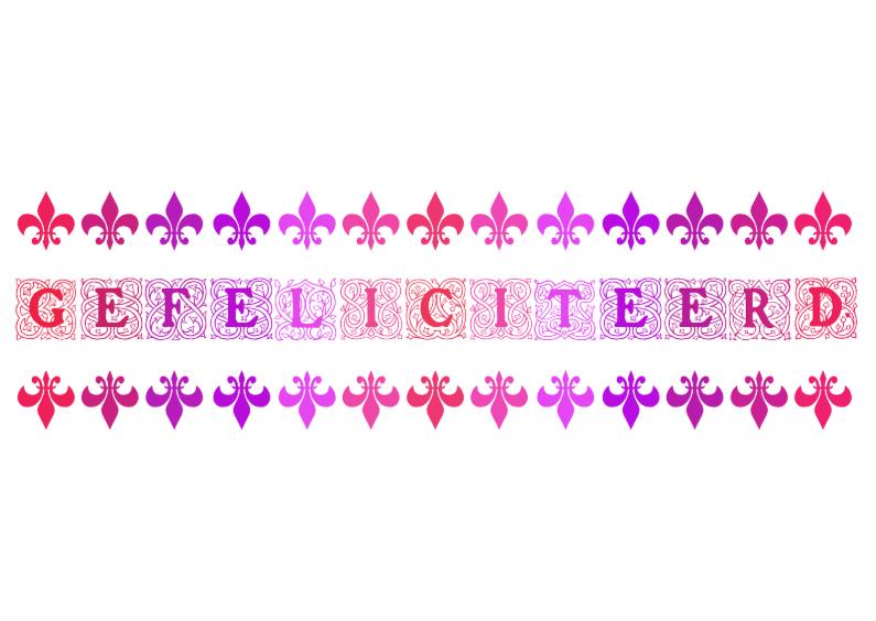 Felicitatiekaarten - Gefeliciteerd Roze Rood