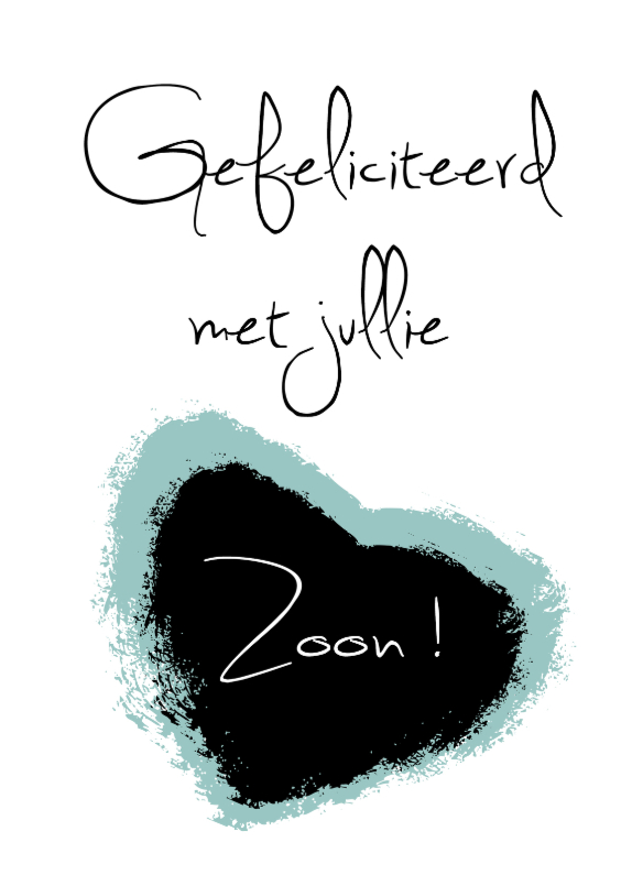 Felicitatiekaarten - gefeliciteerd zoon-made4you