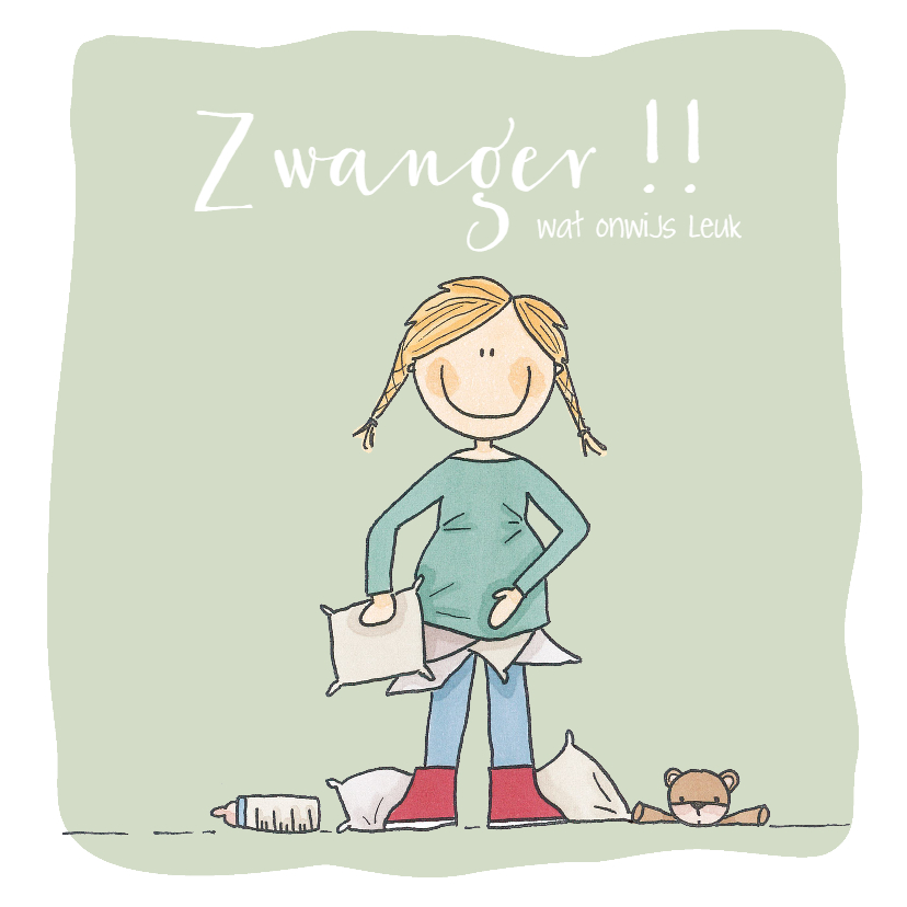 Felicitatiekaarten - Gefeliciteerd Zwanger Kussens LFZ