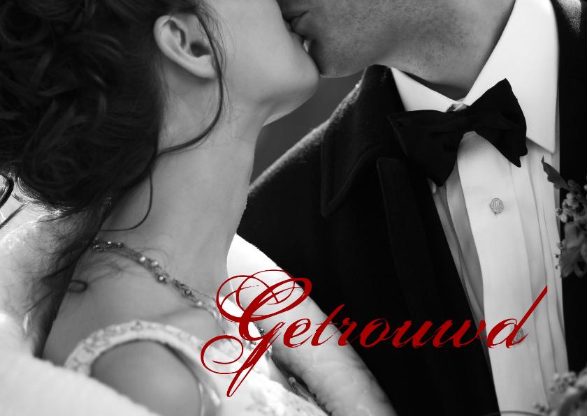 Felicitatiekaarten - Getrouwd felicitatie bruidspaar