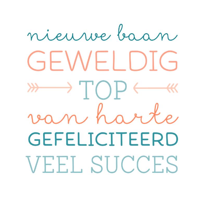 Geweldig Top Nieuwe Baan Felicitatiekaarten Kaartje2go