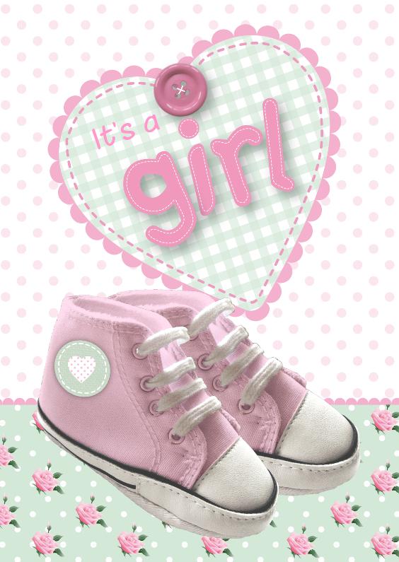 Felicitatiekaarten - Girl Schoentjes