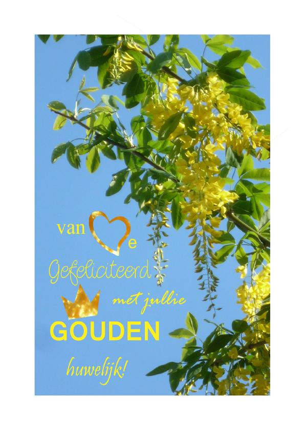 Felicitatiekaarten - Gouden Regen Huwelijk