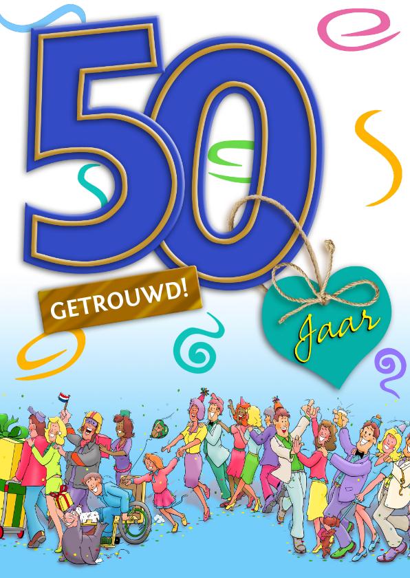 Felicitatiekaarten - Grappige felicitatie kaart 50 jaar samen