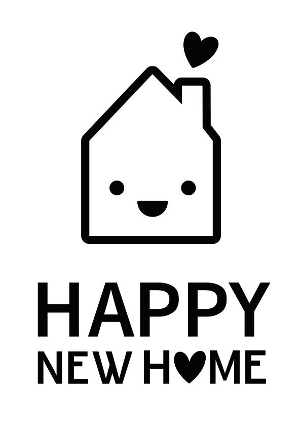Felicitatiekaarten - Grappige felicitatiekaart nieuw huis met oogjes en hartjes