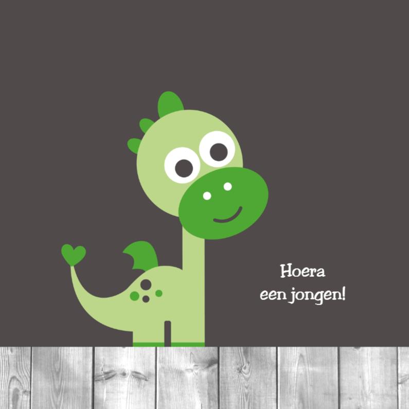 Felicitatiekaarten - Groen draakje