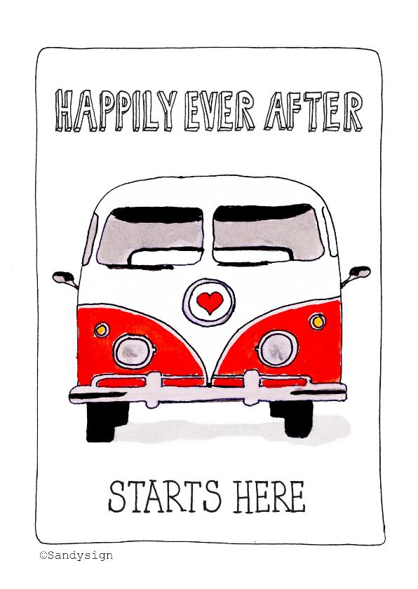 Felicitatiekaarten - Happily ever after - SD