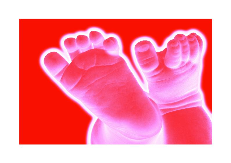 Felicitatiekaarten - Happy Feet rood roze
