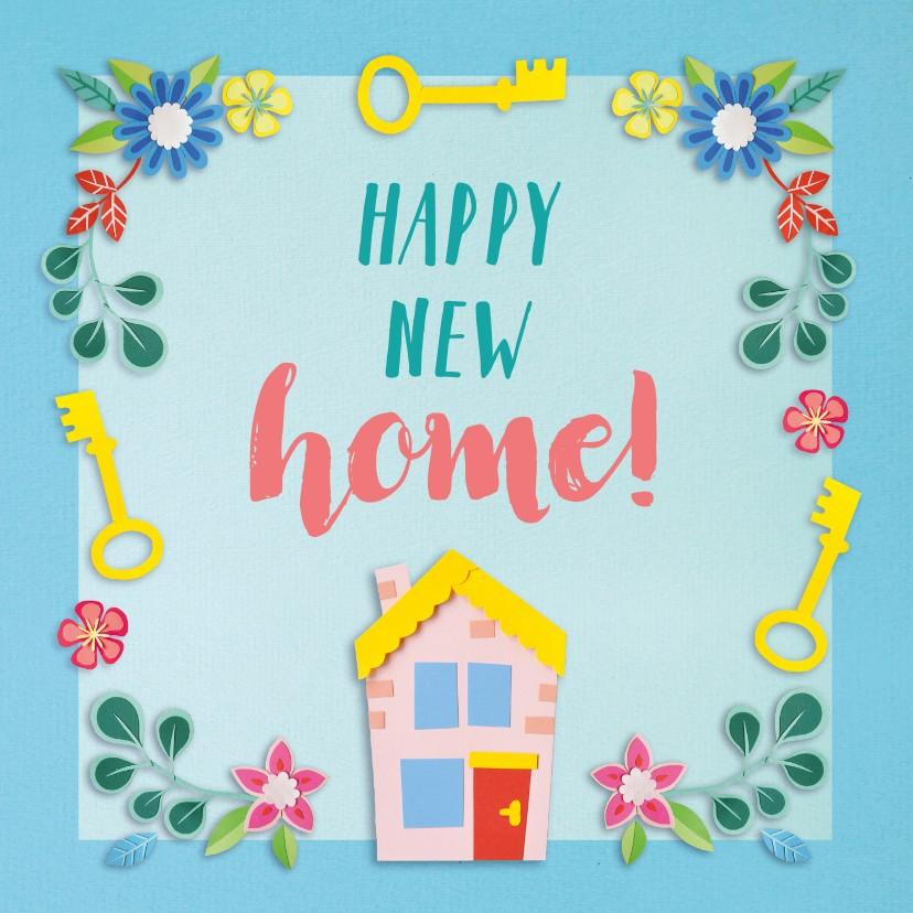 Felicitatiekaarten - Happy new home felicitatiekaart