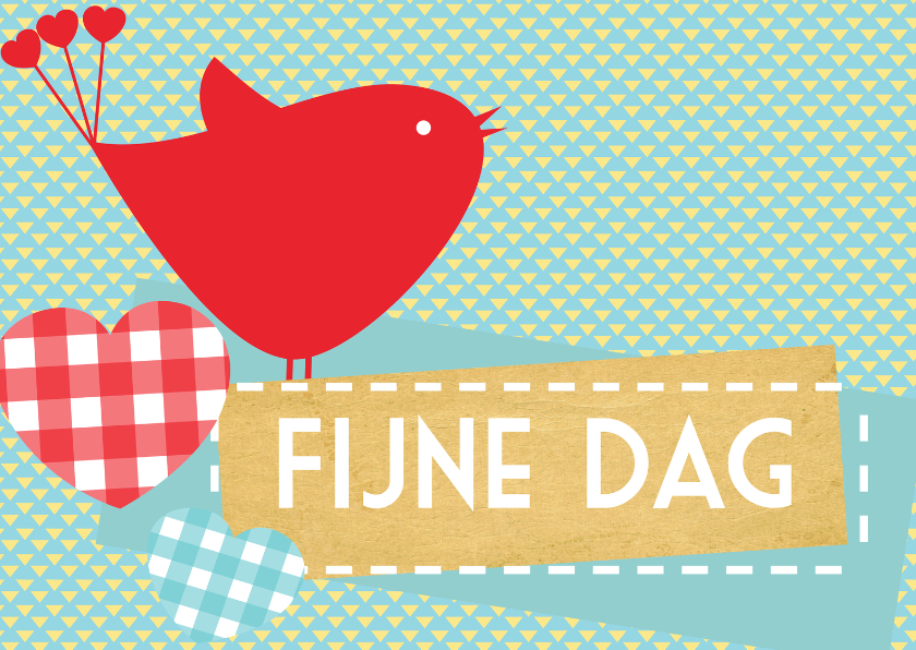 Felicitatiekaarten - Happy Red Birdy