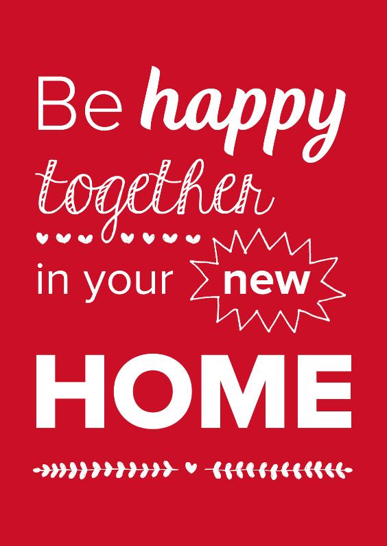 Samenwonen kaarten - Happy together new home