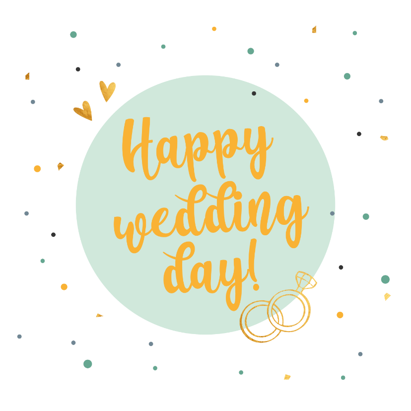 Felicitatiekaarten - Happy wedding day! - felicitatiekaart