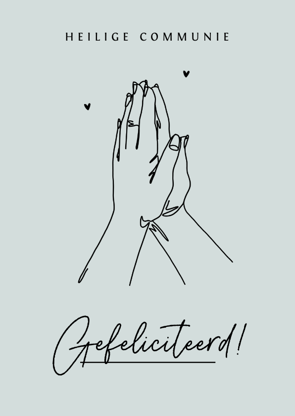 Felicitatiekaarten - Heilige communie felicitatiekaart christelijk Jezus