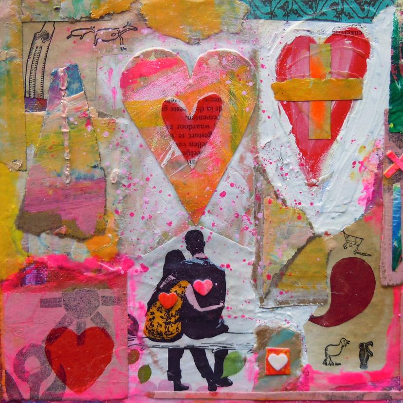 Felicitatiekaarten - Het hart van de man is de wereld