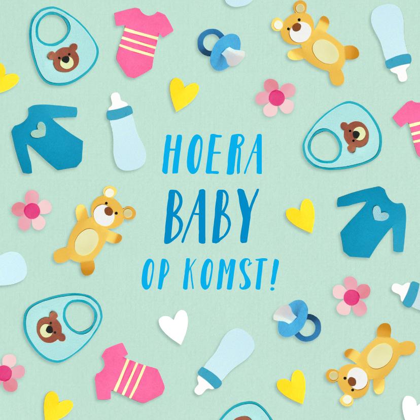 Felicitatiekaarten - Hoera baby op komst