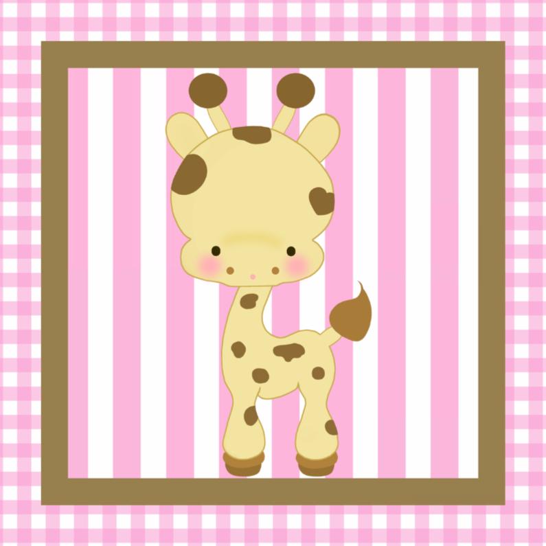 Felicitatiekaarten - Hoera een Dochter - Giraf