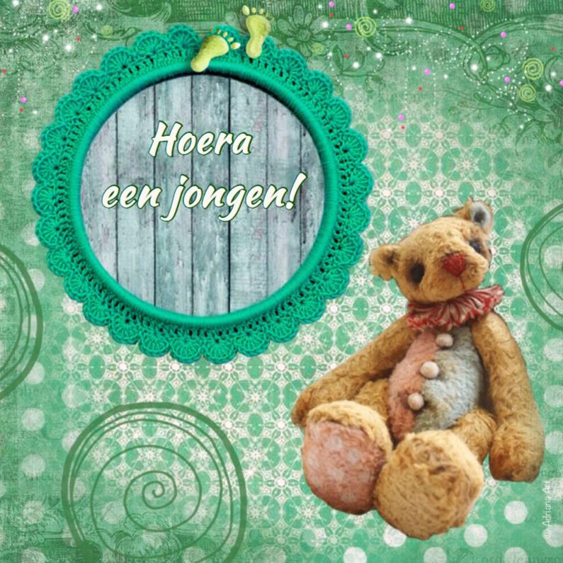 Felicitatiekaarten - Hoera geboorte jongen beer