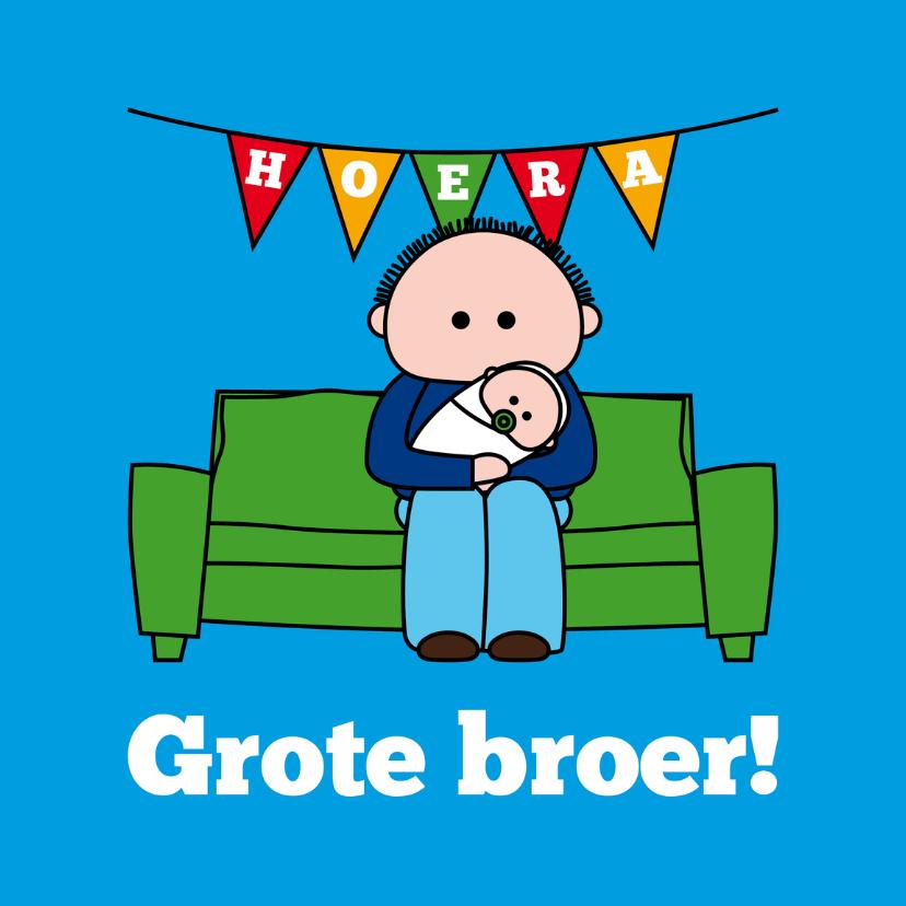 Felicitatiekaarten - Hoera! Grote broer!
