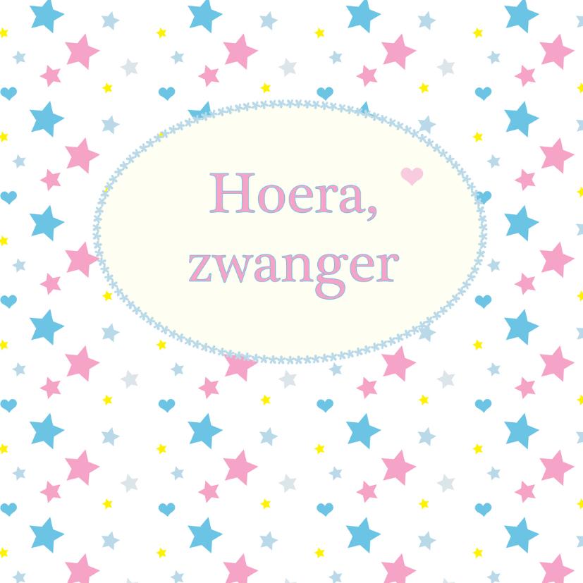 Felicitatiekaarten - Hoera zwanger M06