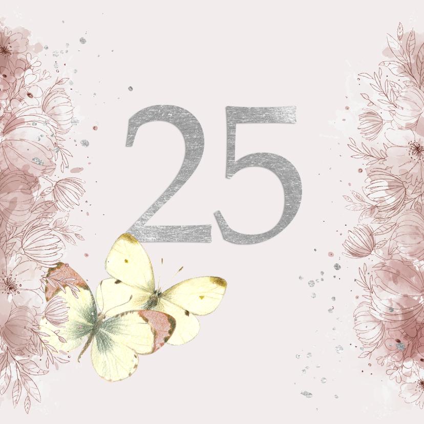 Felicitatiekaarten - Huwelijksjubileum - 25 jaar getrouwd