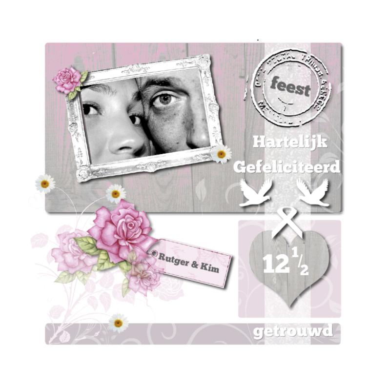 Felicitatiekaarten - Huwelijksjubileum duiven