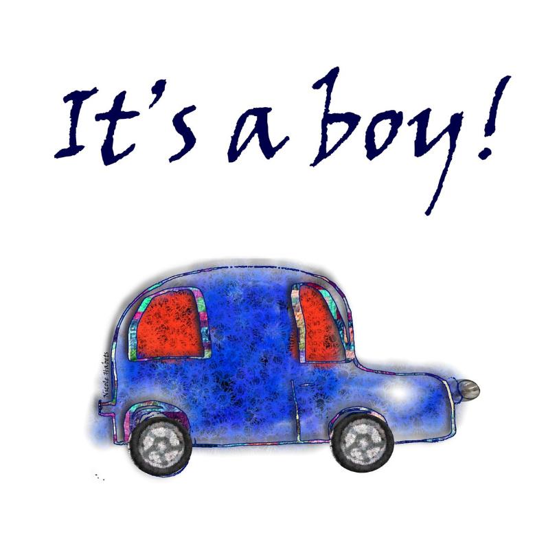 Felicitatiekaarten - It-is-a-boy