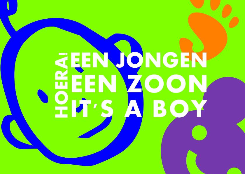 Felicitatiekaarten - It's  a boy jongen geboren