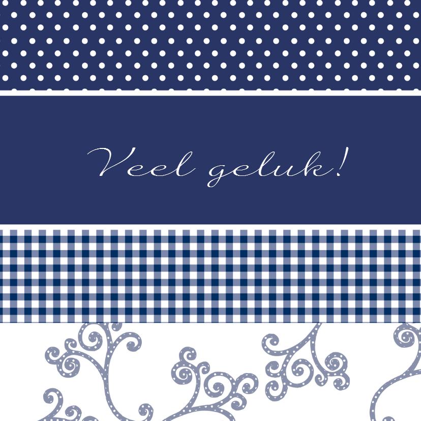 Felicitatiekaarten - JippieJippie eigen tekst 001 blauw