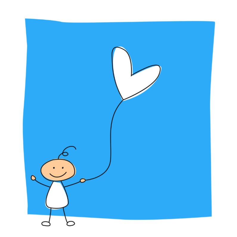 Felicitatiekaarten - Jongen met ballon