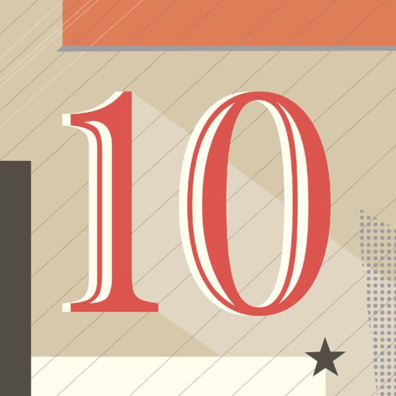 Felicitatiekaarten - Jubileum-10 tien jaar!-HK
