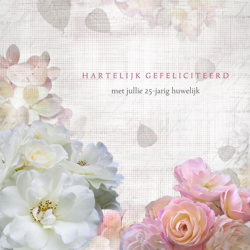Felicitatiekaarten - Jubileum met rozen en hortensia