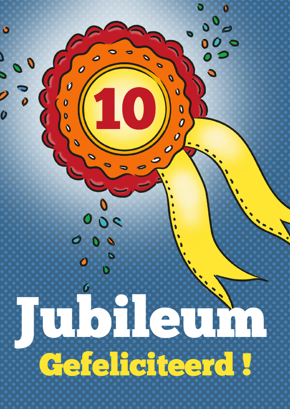 Felicitatiekaarten - Jubileum - rozet