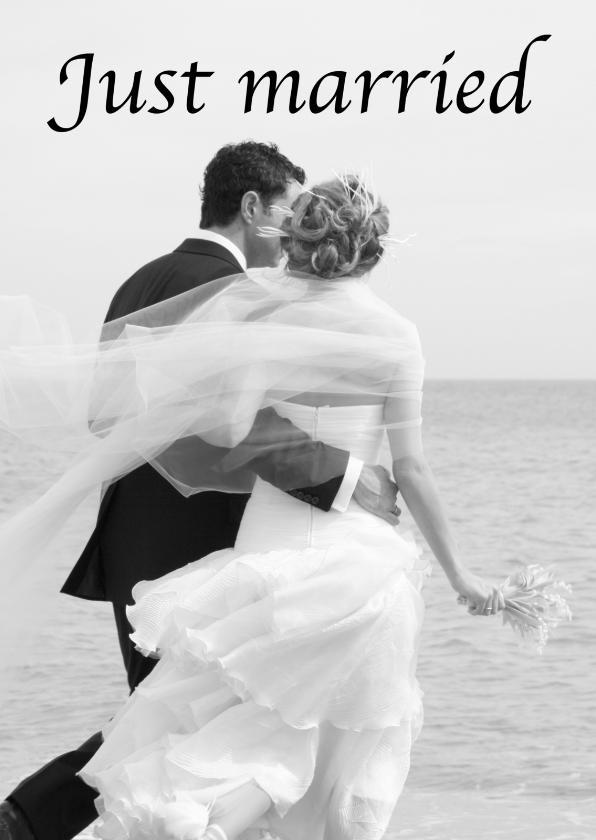 Felicitatiekaarten - Just married zee