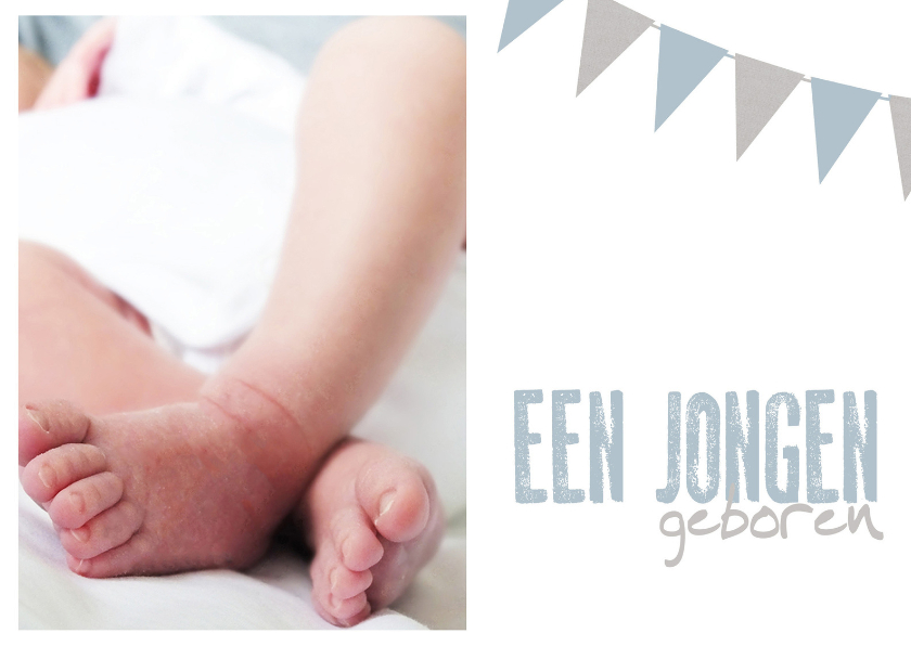 Felicitatiekaarten - Kaart een jongen geboren slinger