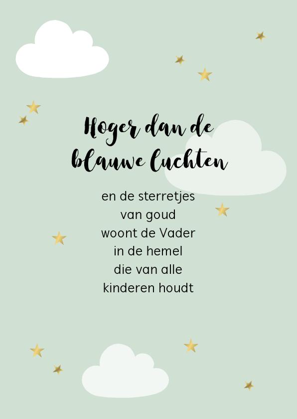Felicitatiekaarten - Kaart met kinderversje, aanpasbare kleur en tekst