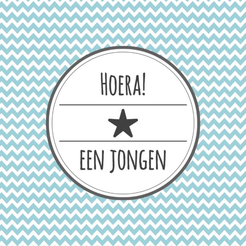 Felicitatiekaarten - Kaartje Jongen Zigzag - WW