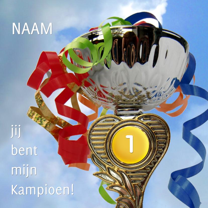 Felicitatiekaarten - Kampioen Beker