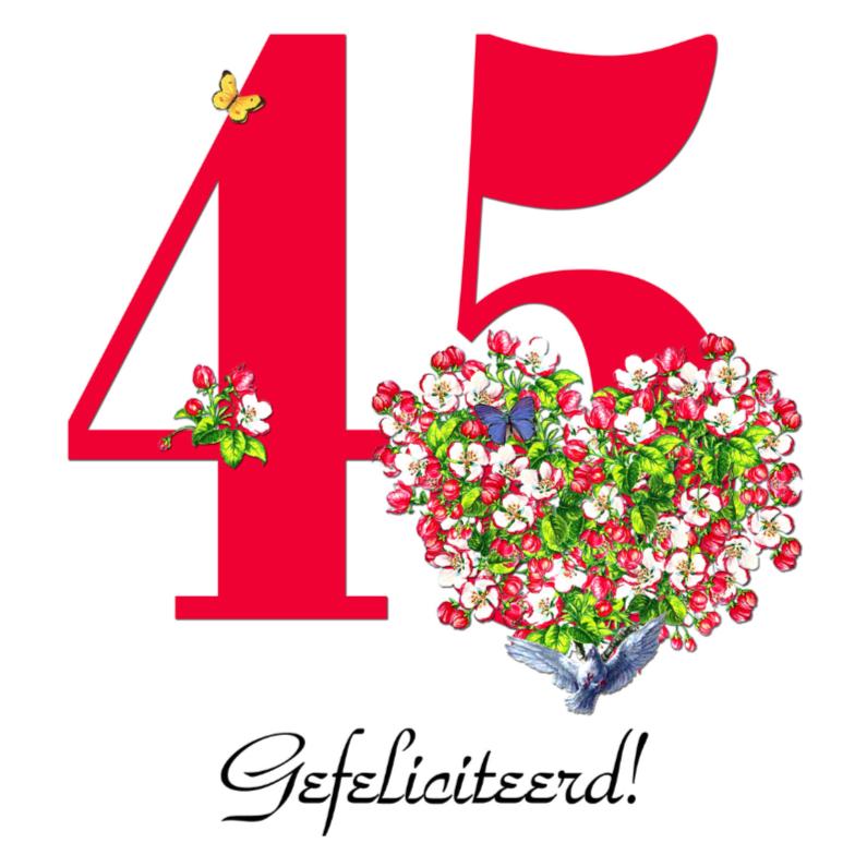 Jubileumkaarten - KendieKaart-45-Blossom hearts